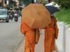 Mönche auf den Straßen von Luang Prabang