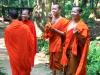Mönche an den Tat Kuang Si-Wasserfällen