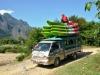 Vang Vieng - Der Mekong bietet sich wunderbar für Kajak-Touren an