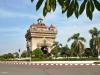 Der Triumphbogen Patuxai in Vientiane