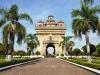 Der Monumentalbau Patuxai in Vientiane