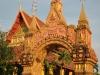Der Wat Mixai-Tempel in Vientiane ist besonders für seine blauen Mosaike bekannt