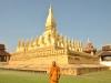 Die Pha That Luang, eine große buddhistische Stupa, wurde im 16. Jahrhundert erbaut