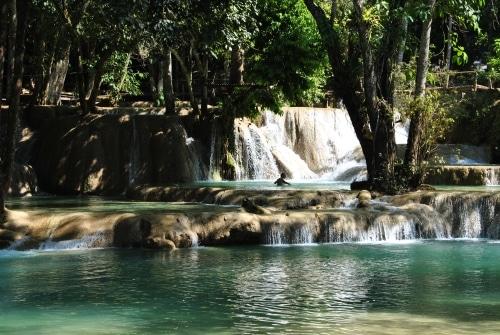 Die Tat Kuang Si-Wasserfälle in Luang Prabang