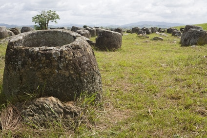 Plain of Jars (Ebene der Tonkrüge) in Laos