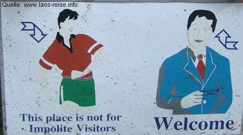 Respekt und Höflichkeit werden in Laos groß geschrieben