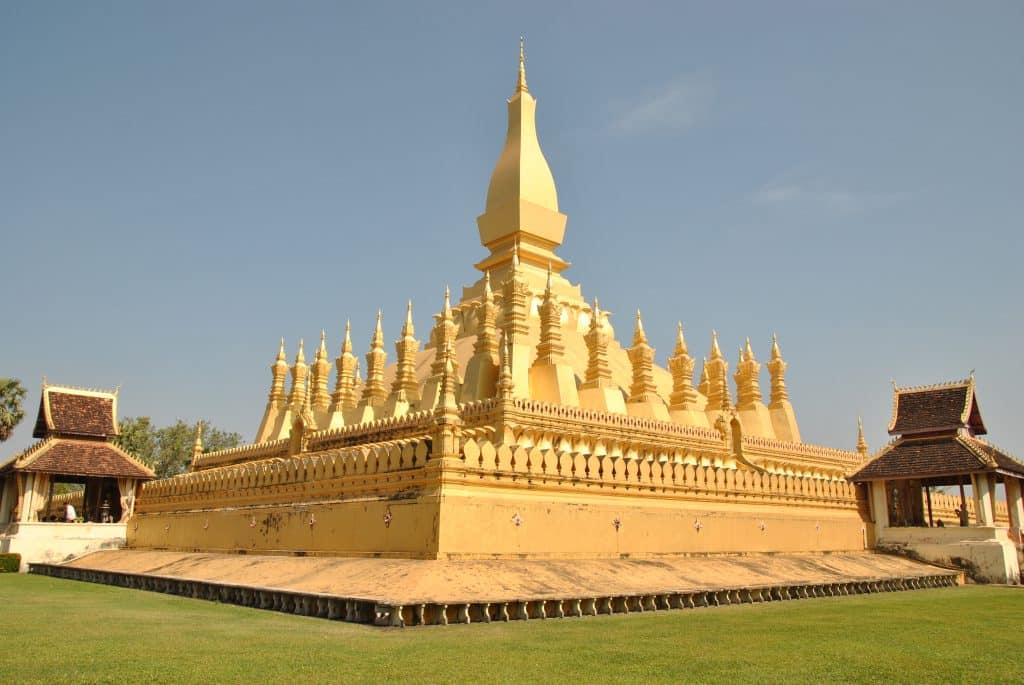 Eines der Wahrzeichen von Vientiane - Pha That Luang