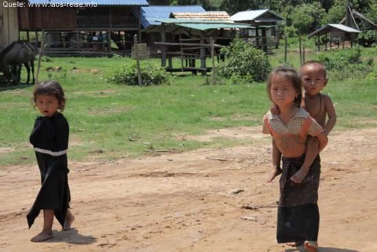 Dorfleben in Laos