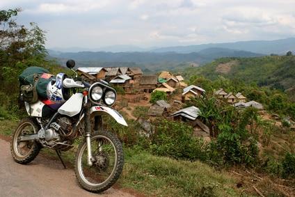 Mit dem Motorrad durch Laos