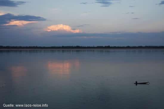 Blick von Don Det auf den Mekong