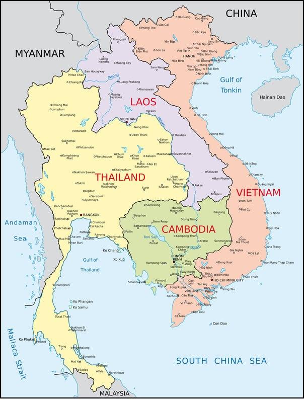 Wo liegt Laos