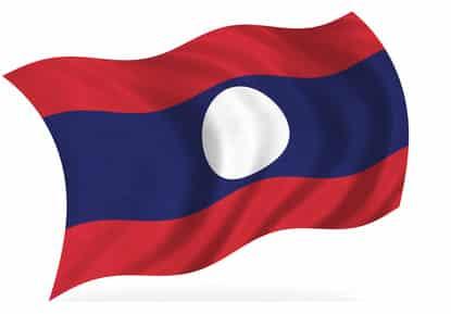 Die Flagge von Laos