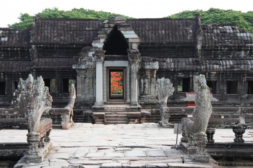 Der beeindruckte Tempelkomplex Angkor Wat